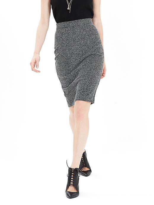 Banana Republic Womens Herringbone Pencil Skirt Size 12 Petite - Cocoon