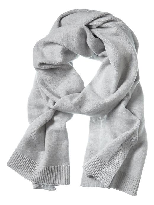 Banana Republic Todd & Duncan Plaited Cashmere Scarf Size One Size - Gray