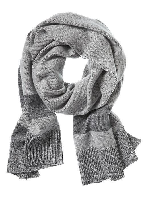Banana Republic Todd & Duncan Stripe Cashmere Scarf Size One Size - Gray