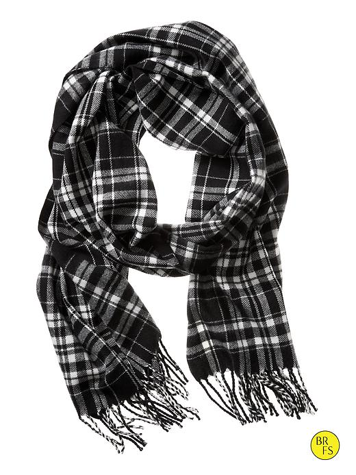 Banana Republic Factory Plaid Scarf Size One Size - Moira geo black combo