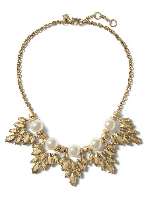 Banana Republic Pearl Leaf Necklace Size One Size - Pearl