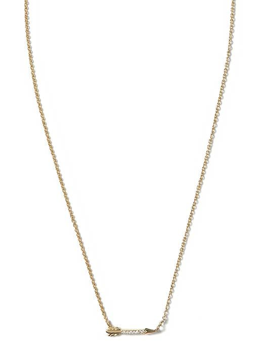 Banana Republic Arrow Necklace Size One Size - Gold
