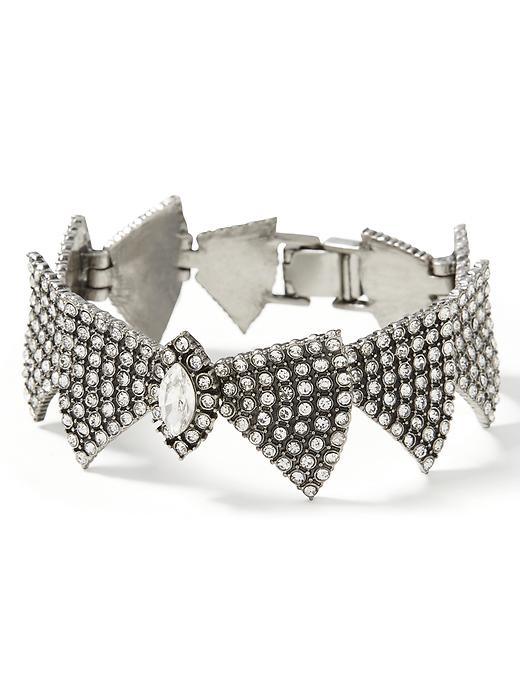 Banana Republic Sparkle Bow Tie Bracelet Size One Size - Crystal
