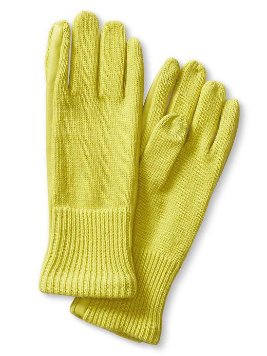 Banana Republic Faux Leather Framed Texting Glove Size One Size - Citron green