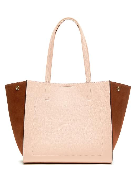 Banana Republic Pebbled Italian Leather Tote Size One Size - Pink blush