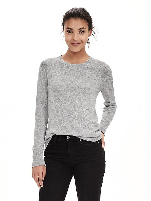 Banana Republic Italian Cashmere Blend Sweater Pullover Size XS - Light gray