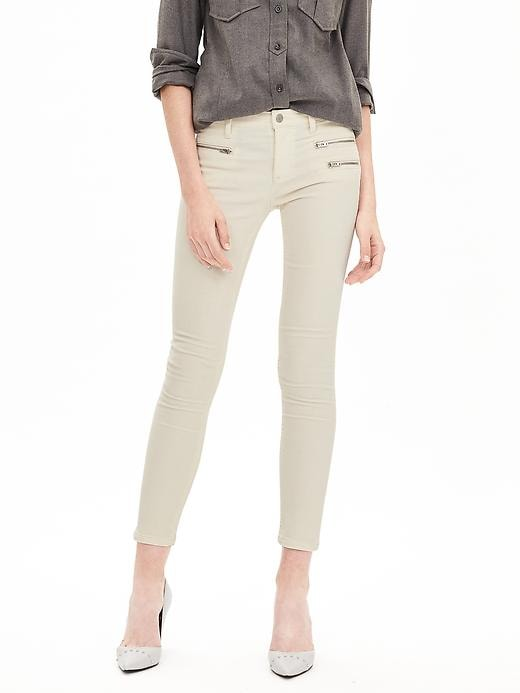 Banana Republic Womens Zip Pocket Skinny Ankle Cord Size 12 Regular - Cocoon