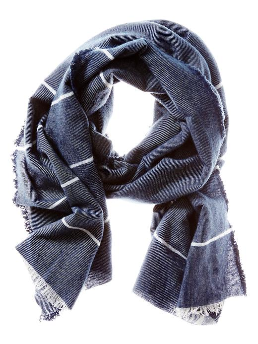 Banana Republic Mens Blanket Stripe Scarf Size One Size - Navy