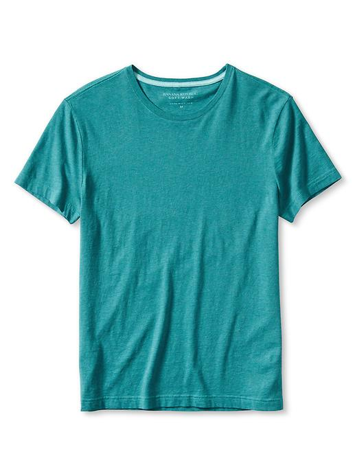 Banana Republic Mens Soft Wash Tee Size L Tall - Thermal teal