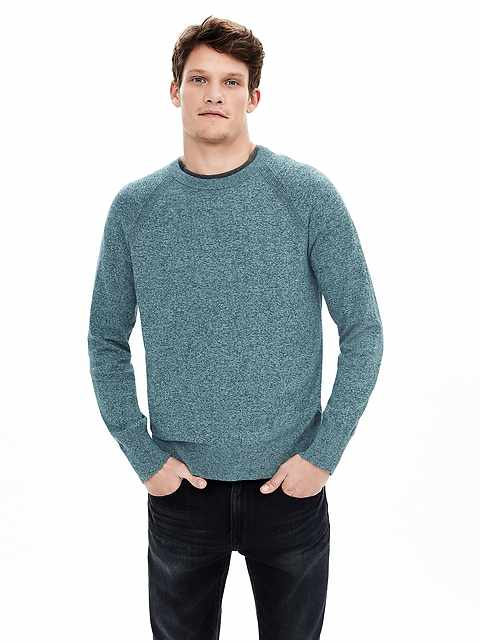 Cotton Cashmere Crew Sweater Pullover