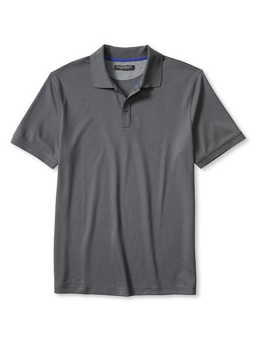 Banana Republic Luxe Touch Polo Size XL Tall - Dark charcoal