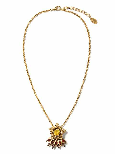 Elizabeth Cole &#124 Sunny Ruby Pendant Necklace