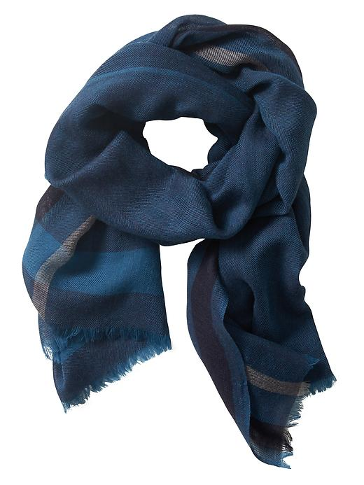 Banana Republic Mens Wool Blanket Scarf Size One Size - Blue