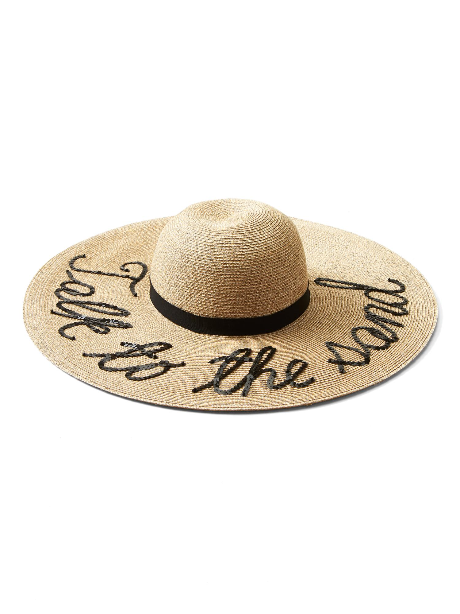 Bunny Embroidered Straw Sunhat - Sand Eugenia Kim