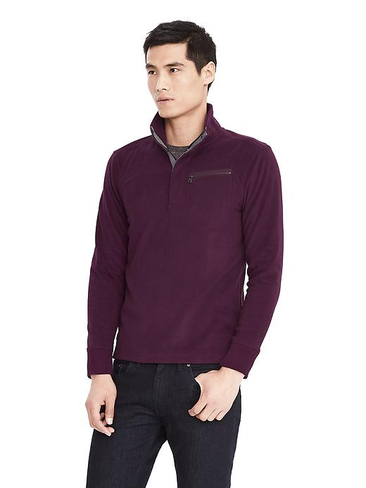 Banana Republic Microfleece Pullover Size M Tall - Burgundy