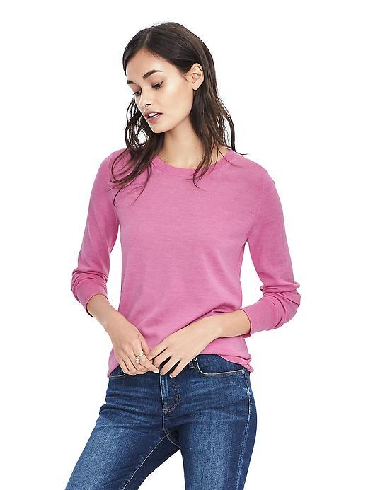 Banana Republic Merino Crew Sweater Size XXS - Pop pink