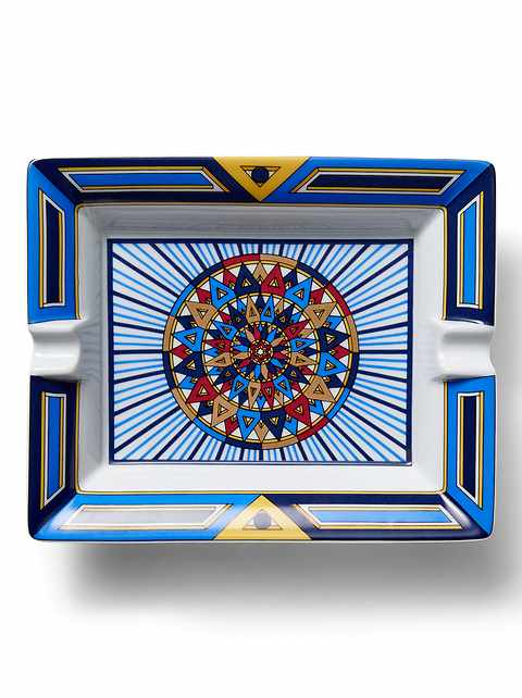 LUXE FINDS &#124 Hermès Blue Mosaic Porcelain Catchall