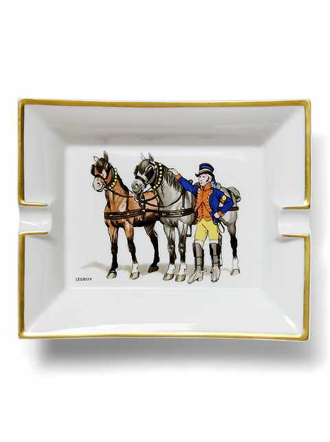 LUXE FINDS &#124 Hermès White Horse & Rider Catchall