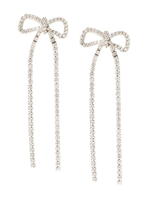 Banana Republic Sparkle Bow Earring Size One Size - Pavement global