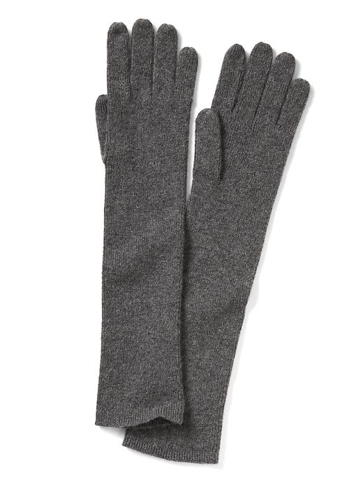 Banana Republic Italian Cashmere Blend Ribbed Glove Size One Size - Medium grey