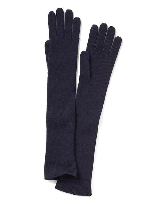 Banana Republic Italian Cashmere Blend Ribbed Glove Size One Size - Navy