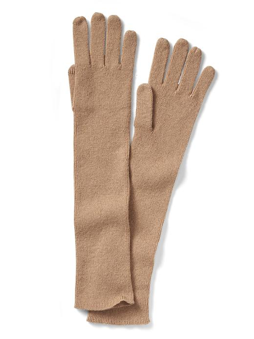Banana Republic Italian Cashmere Blend Ribbed Glove Size One Size - Camel