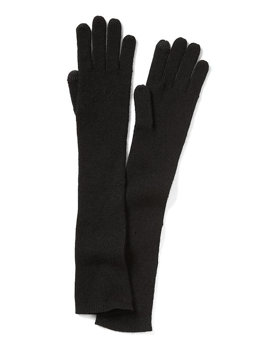 Banana Republic Italian Cashmere Blend Ribbed Glove Size One Size - Black
