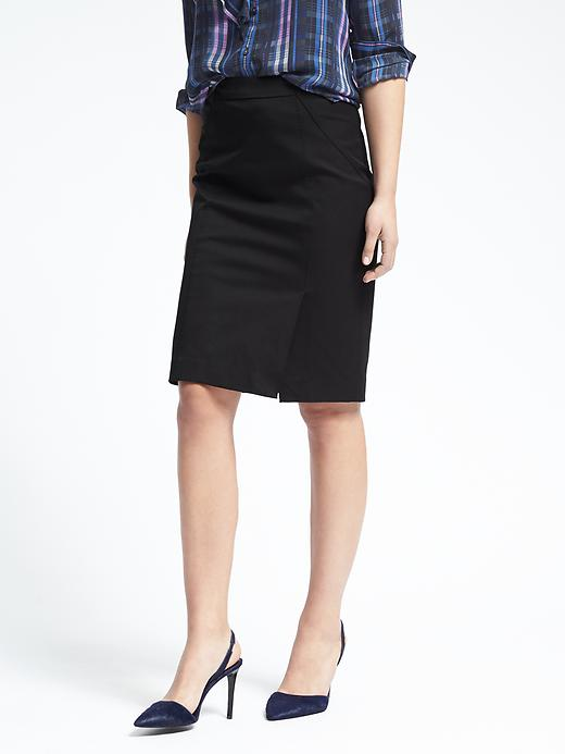 Banana Republic Womens High Waisted Pencil Skirt Size 0 Petite - Black