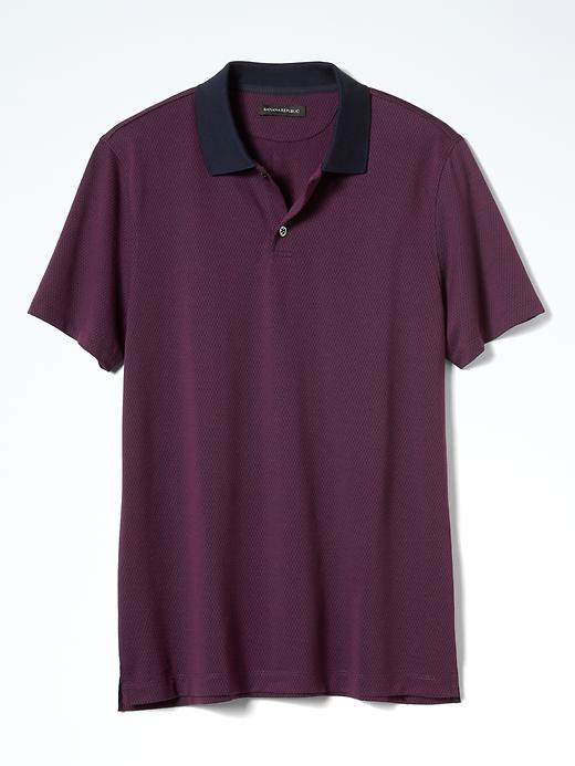 Banana Republic Luxury Touch Ikat Polo Size XL - Secret plum