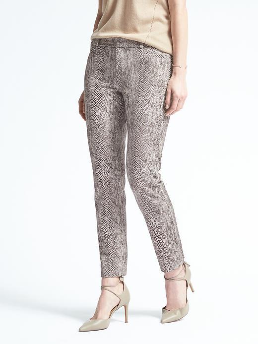 Banana Republic Sloan Fit Snake Print Pant Size 8 Regular - Neutral
