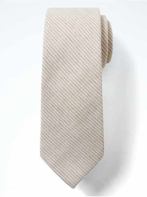 Cotton Stripe Nanotex® Tie
