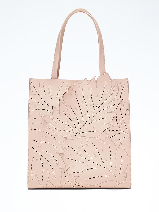 Banana Republic Portfolio Structured Tall Lasercut Leaf Tote Size One Size - Pink blush