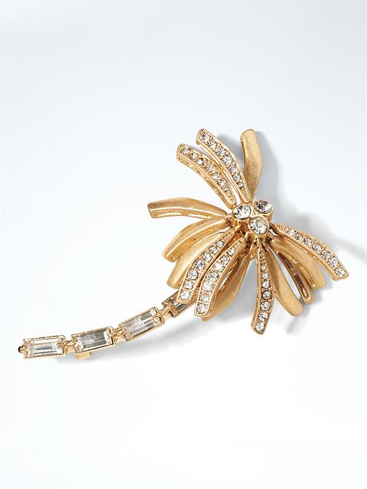 Banana Republic Womens Palm Tree Brooch Size One Size - Gold