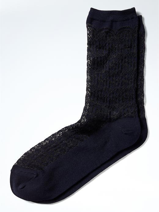 Banana Republic Lingerie Trouser Sock Size One Size - Navy