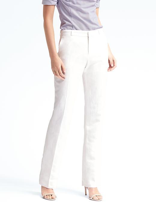 Banana Republic Logan Fit White Linen Blend Pant Size 0 Short - White