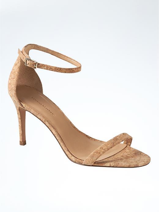 Banana Republic Bare High Heel Sandal Size 9 - Cork