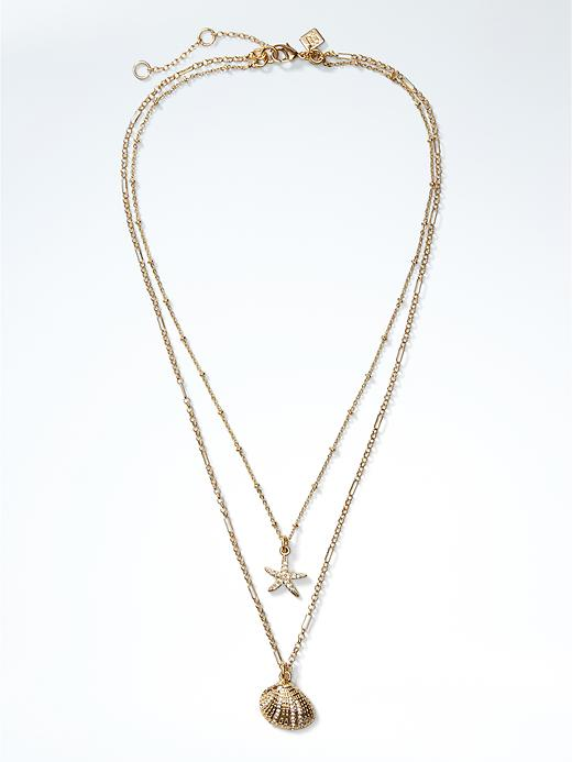 Banana Republic Womens Sea Life Necklace Size One Size - Gold