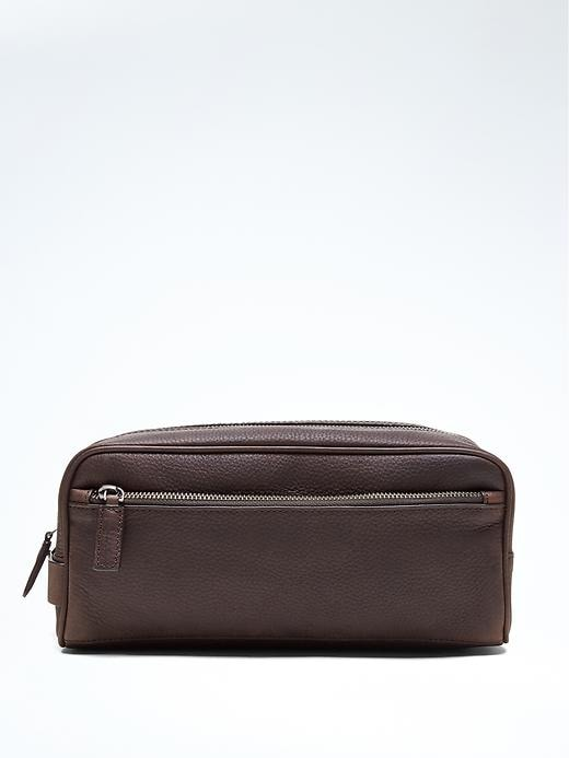 Banana Republic Leather Travel Kit Size One Size - Sequoia brown