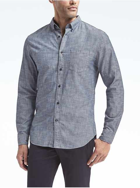 Grant Slim-Fit Chambray Shirt