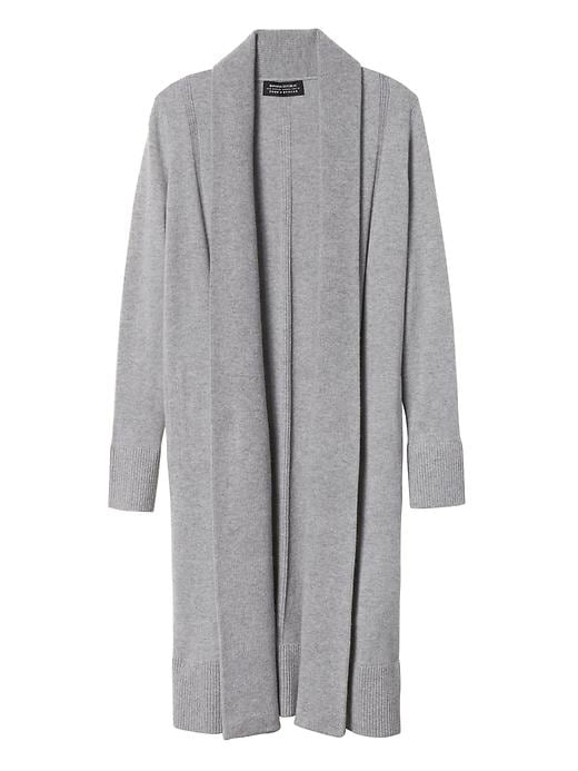 Banana Republic Womens Todd & Duncan Cashmere Open Duster Light Gray Size M
