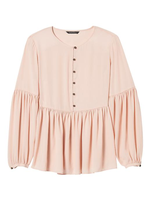 Banana Republic Womens Banana Republic X Olivia Palermo  ; Gathered Empire Blouse Wispy Pink Size M