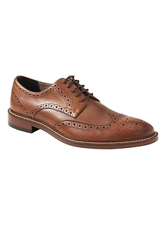 Hadley Italian Leather Brogue Oxford