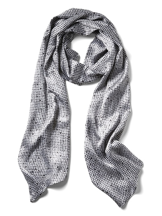 Banana Republic Womens Texture Printed Oblong Scarf Gray Size One Size