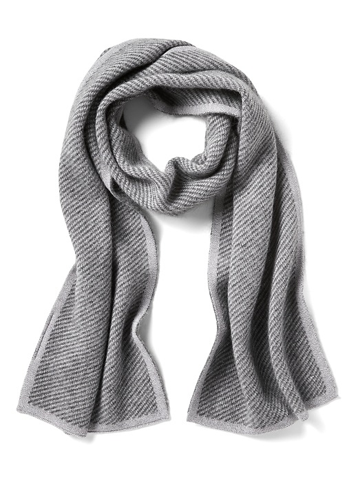 Banana Republic Mens Double-Faced Twill Scarf Charcoal Size One Size