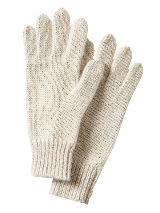 Banana Republic Womens Sparkle Knit Gloves Gold Size One Size