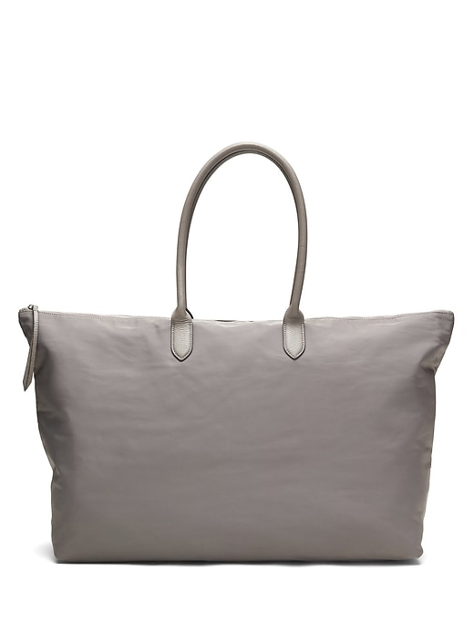 Banana Republic Womens Nylon Luxe Weekender Tote Storm Gray Size One Size
