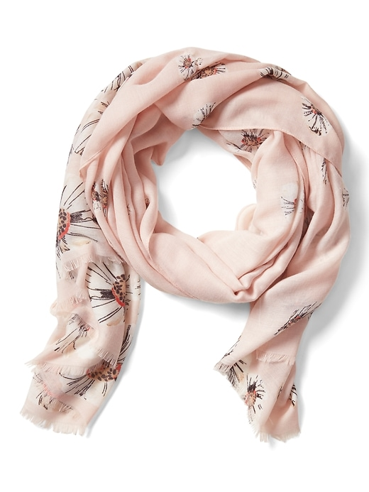 Banana Republic Womens Floral Rectangular Scarf Blush Size One Size