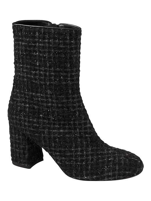 Banana Republic Womens Eugenia Kim   Fran Tweed Boot Black Size 36