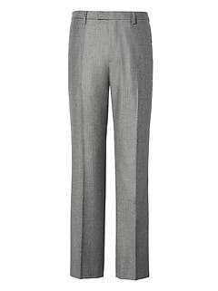 Slim Gray Pinstripe Italian Wool Flannel Suit Trouser