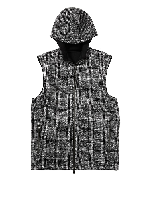 Banana Republic Mens Reversible Hooded Vest Black Size XS